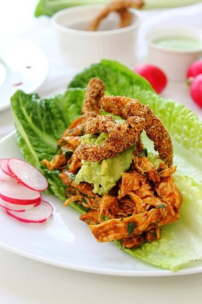 Chipotle Shredded Chicken Lettuce Tacos (40)
