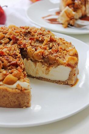 Caramel Apple Paleo Cheesecake (42)