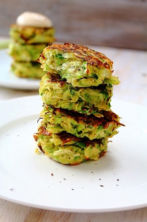 Brussel and Leek Fritters (12)