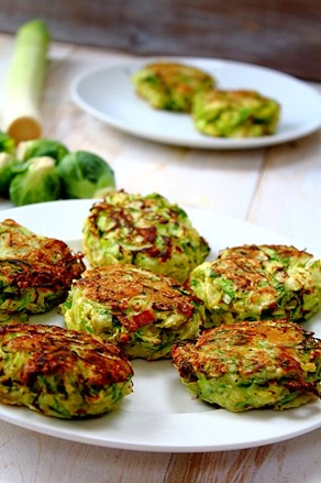 Brussel and Leek Fritters (2)