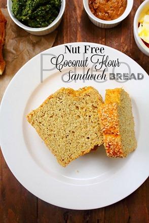 Coconut Flour Sandwich Bread (10) title