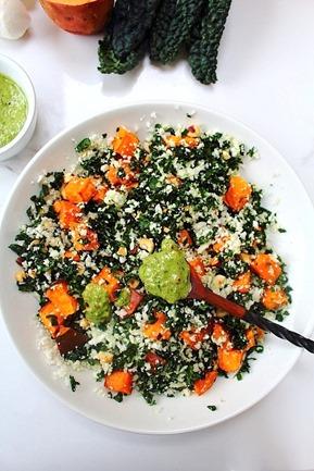 Thanksgiving Sweet Potato Kale Cauliflower Rice Salad (11)