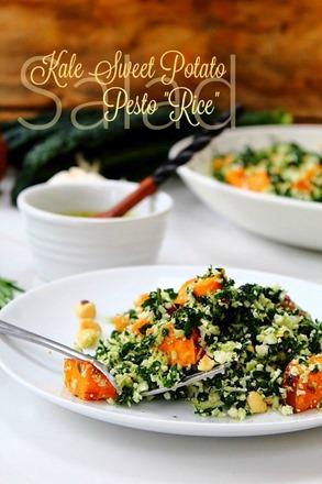 Thanksgiving Sweet Potato Kale Cauliflower Rice Salad (23) title