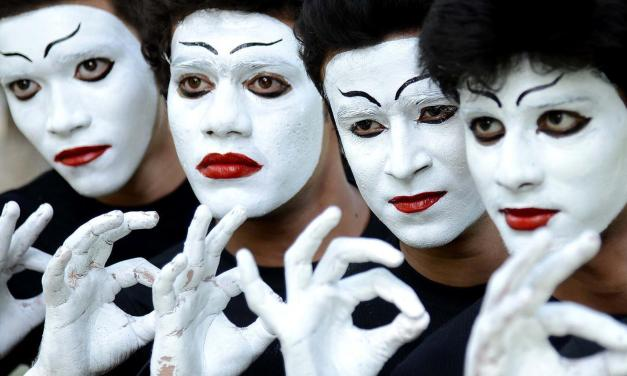 A.M. Juster – Rounding Up the Mimes