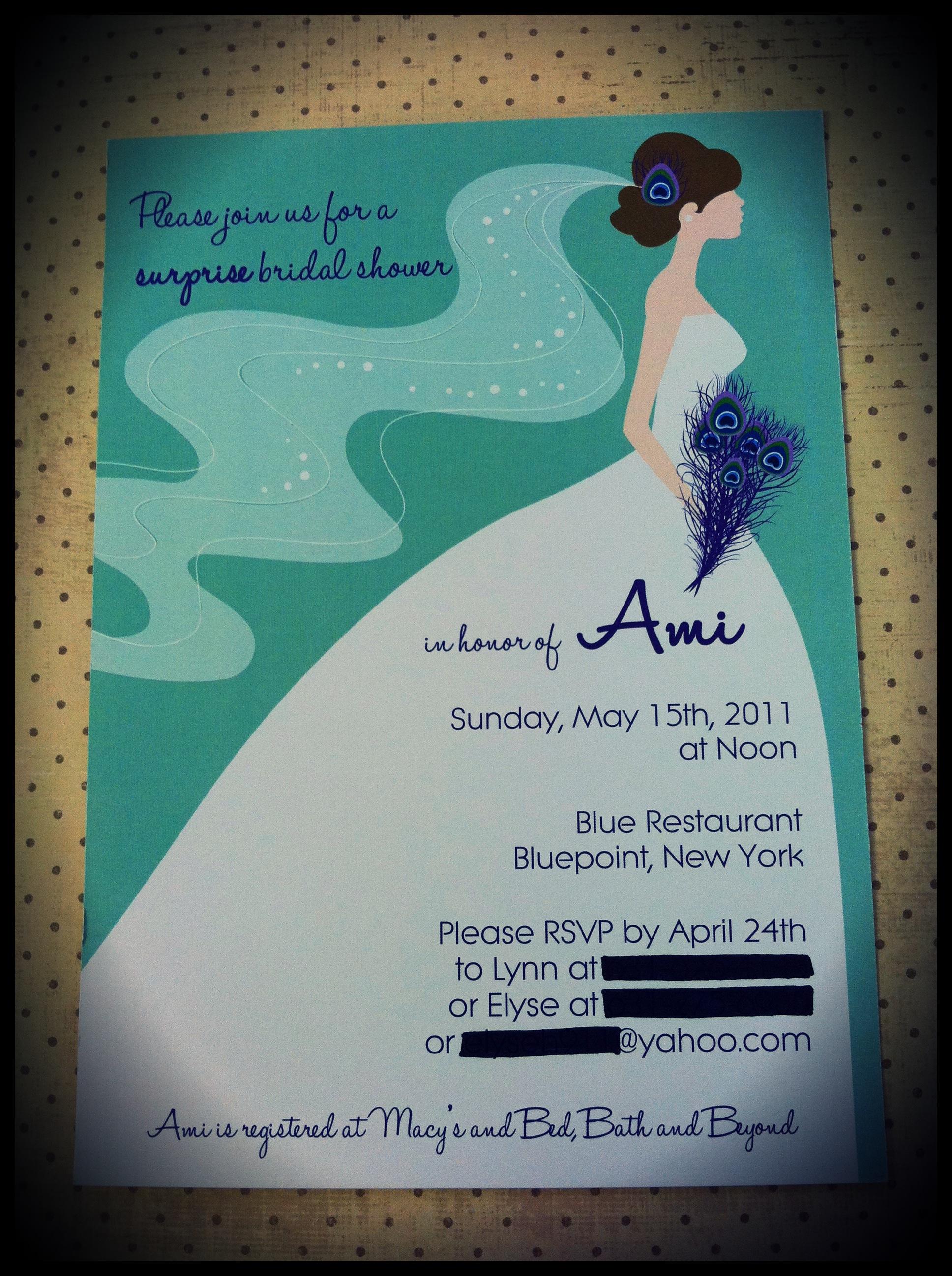 bridal shower etsy wedding shower invitations My Peacock Bridal Shower Invitation was born Ever since