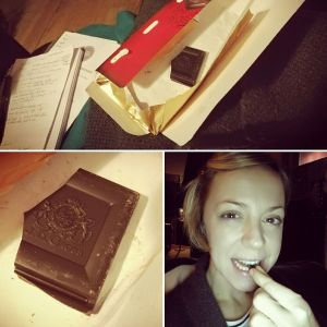 """Our Head of Communications, aka CommuniKaty, chose to go without her daily chocolate fix...  """"Last bit of lovely dark chocolate for a week. . . I'll be doing seven days of 'Lent', with with Lilley Harvey and the Peacock Tree Yoga gang, starting tomorrow (Monday 6th). If you fancy joining in, go to the blog (link below) or search #peacocktreelent on Facebook and Instagram, and be inspired by lots of yogis and yoginis practising non-attachment!"""""""