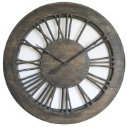 Amazing Large Rustic Skeleton Wall Clock 100cm. Hand Cut from a single panel of wood & hand painted.