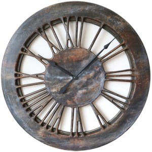 40 Quot Large Contemporary Wall Clock Wood Handmade Uk