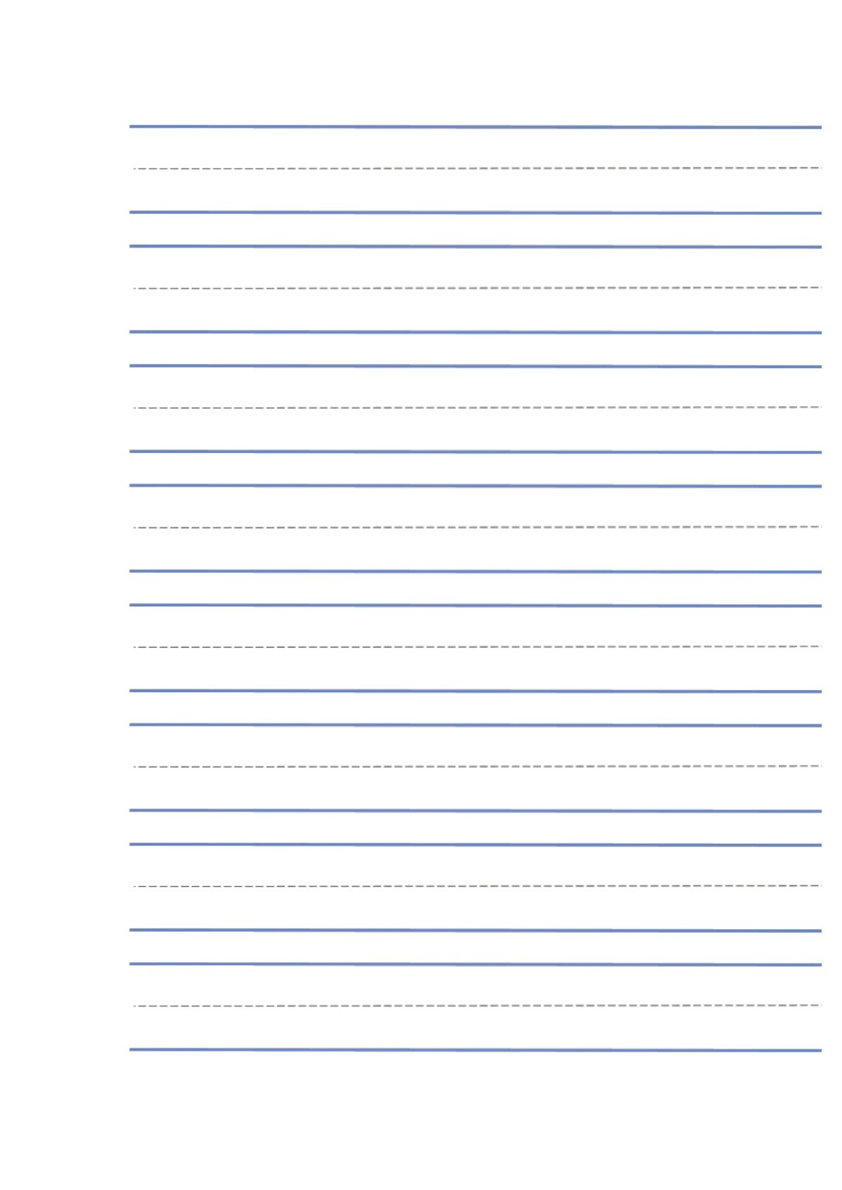 Paper for learning to write