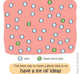 The best way to have a good idea is to have a lot of ideas