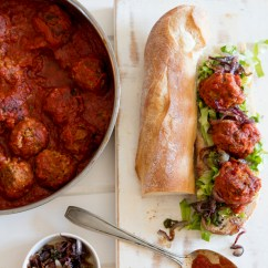 Meatball Sub with Jalepeno and Caramelized Onions – Peas ...