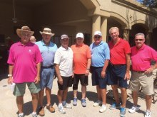 Men's Division Qualifiers, left to right: Marty Schlotthauer, Bobby Schimelpfening, Eugene Howard, Mike McMahon, Dave Harvey, Dave Korba and Harry Kelly; not pictured Toru Yogi