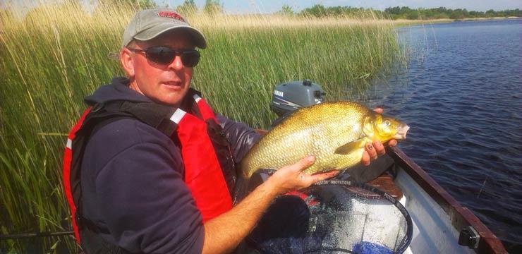 Pêche au feeder en bateau sur la rivière Shannon