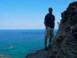 Passaggio esposto sul mare
