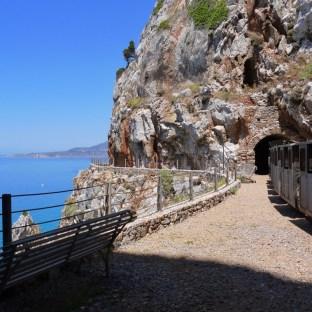 Il percorso sul mare della galleria