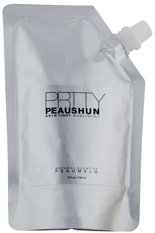 Product photo, PRTTY PEAUSHUN skin tight body lotion, product by Bethany Karlyn