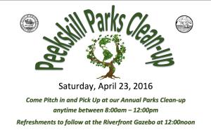 Peekskill Parks Cleanup 2016