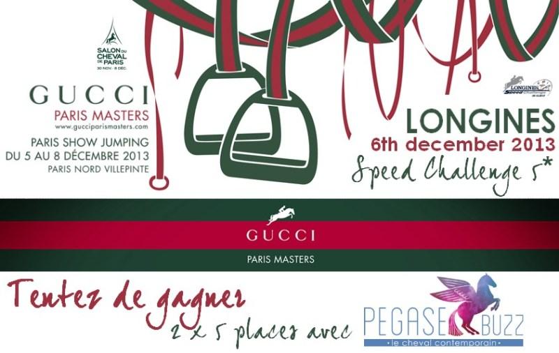 www.pegasebuzz.com | 10 places à gagner pour les Gucci Paris Masters 2013