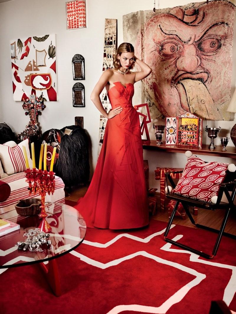 www.pegasebuzz.com | Karlie Kloss by Mario Testino for Vogue US, september 2014