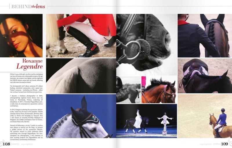 www.pegasebuzz.com | Roxanne Legendre in Horse & Style Magazine, september 2015