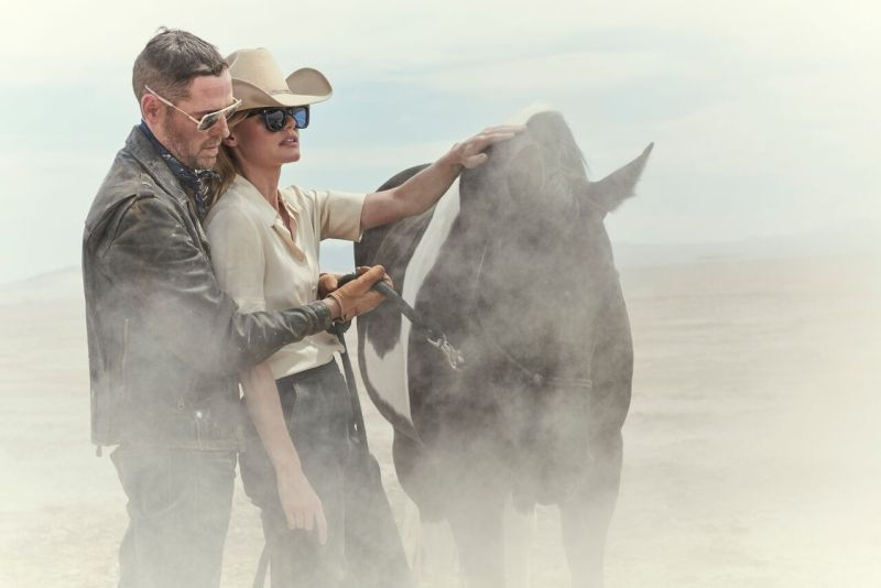 www.pegasebuzz.com | Kate Bosworth and Michael Polish by Alistair Taylor Young for Jacques Marie Mage, spring-summer 2017