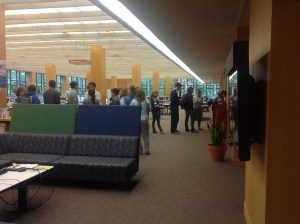 Finally, the line ends after crossing the entire library in a massive Z shape, ending in the Reference Room.