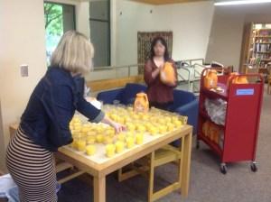 Gallons of orange juice.