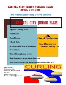 Capital City Junior Slam to be held on arena ice in Fredericton NB