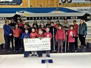 Montague Juniors Curl for Cancer too!