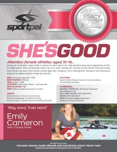 Team Canada rower Emily Cameron among those to address female athletes age 10-16 at Cda Games Legacy event
