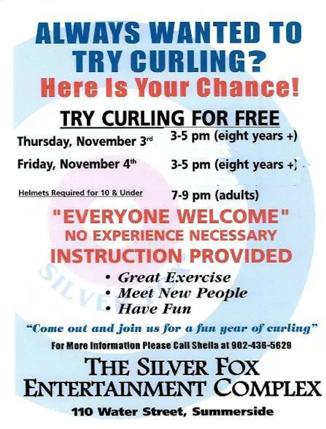 Try Curling at the Fox (Juniors: age 8+) @ Silver Fox Curling and Yacht Entertainment Complex | Summerside | Prince Edward Island | Canada