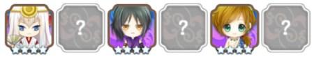 ■グループ4.36 天岩戸の三兄弟 ■キャラ:アマテラス(太陽の花)、ツクヨミ(月の花)、スサノオ(海原の花)