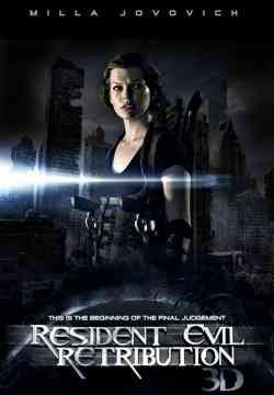 Resident Evil 5 Retribution poster Resident Evil Retribution DVDRip 2012 Latino 1 link
