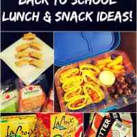 Healthy Back to School Lunch and Snack Ideas