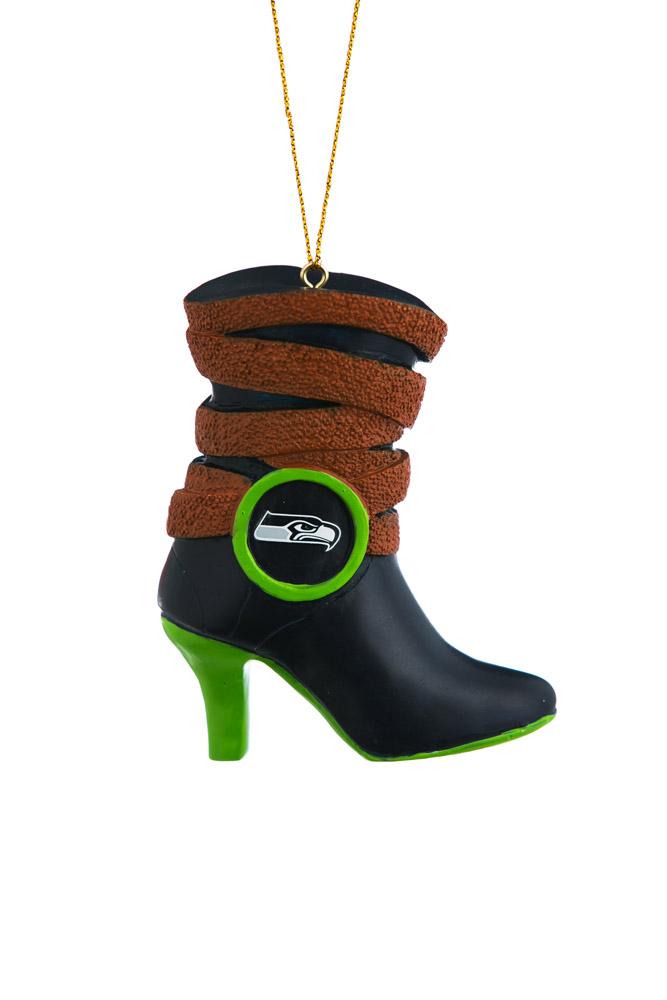 Seattle Seahawks Boot Polystone Ornament