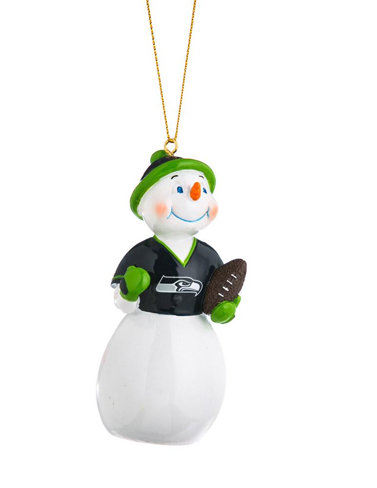 Seattle Seahawks Jock Frost Snowman Polystone Ornament