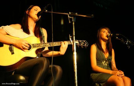 Hana Pestle performs a duet with her sister, Sklyer, at Venture Theatre Aug. 14, 2009.