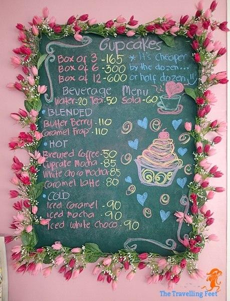 Phoebe's Cupcakery Menu Board