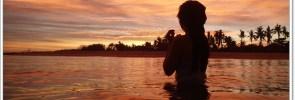Fiery Sunset in Bantayan Island