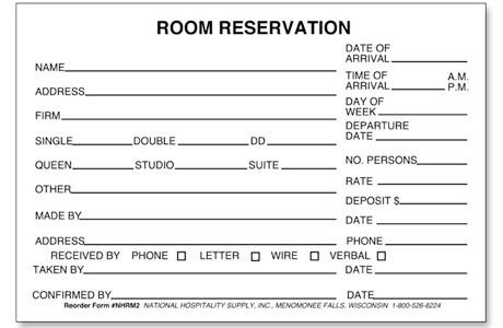 Info Terbaru Pengertian Dan Contoh Form Reservasi Kamar