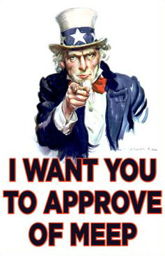 Uncle Sam Wants You To Approve Of Meep
