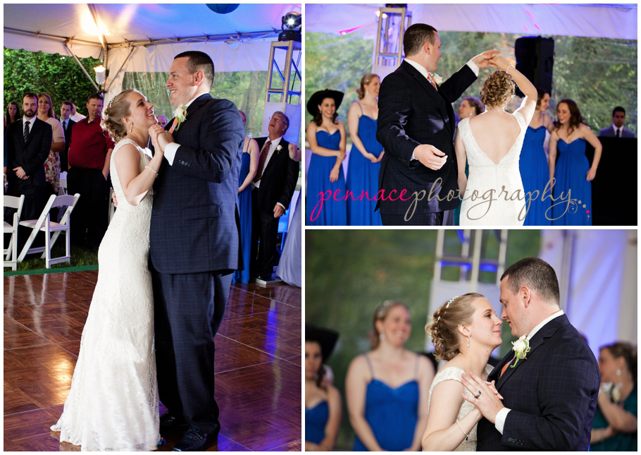 Bride and Groom First Dance at Liberty Hall Museum