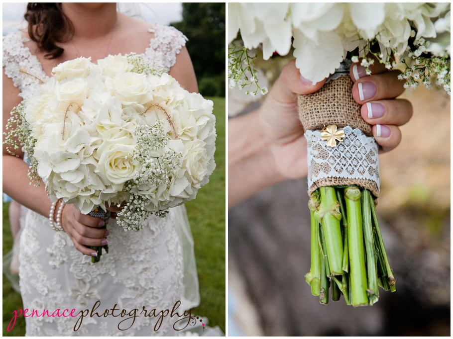 DIY bouquet with lace
