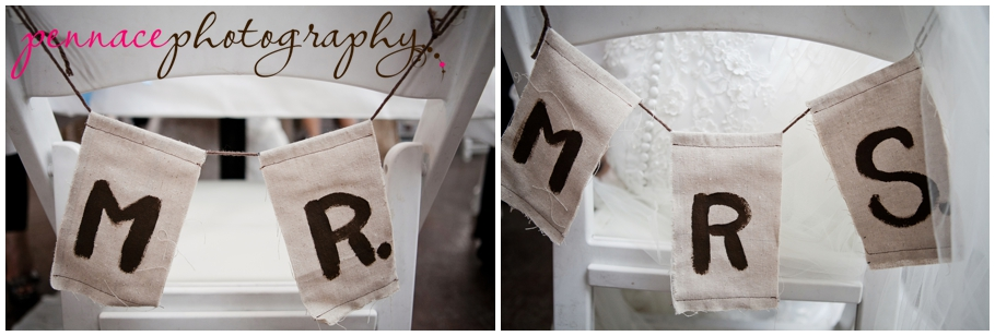 Mr and Mrs wedding banners