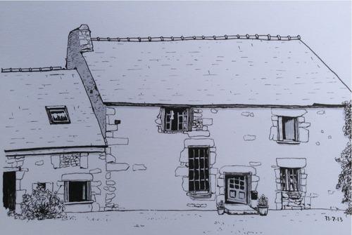 French farmhouse sketch
