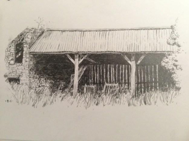 Old French Barn sketch