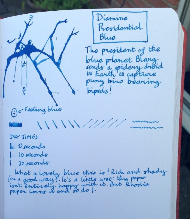 Diamine Presidential Blue ink review