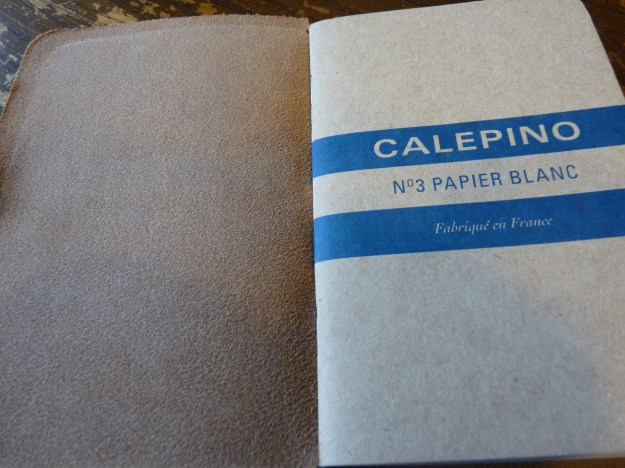 Calepino notebook in Davis Leatherworks cover
