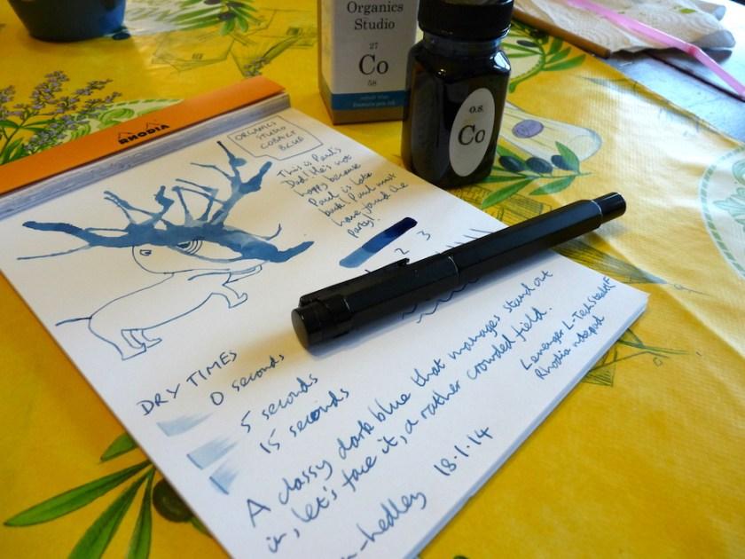 Organics Studio Cobalt Blue ink review