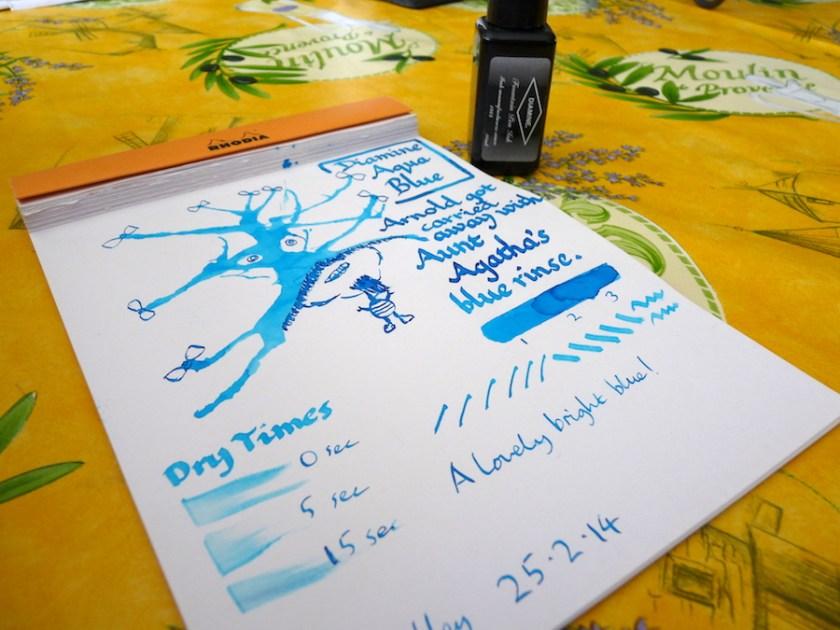 Diamine Aqua Blue ink review